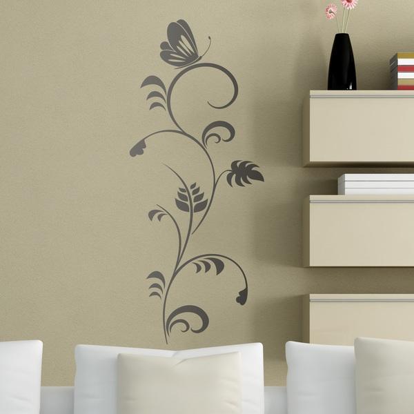 Wandtattoos: Schmetterling auf Blume
