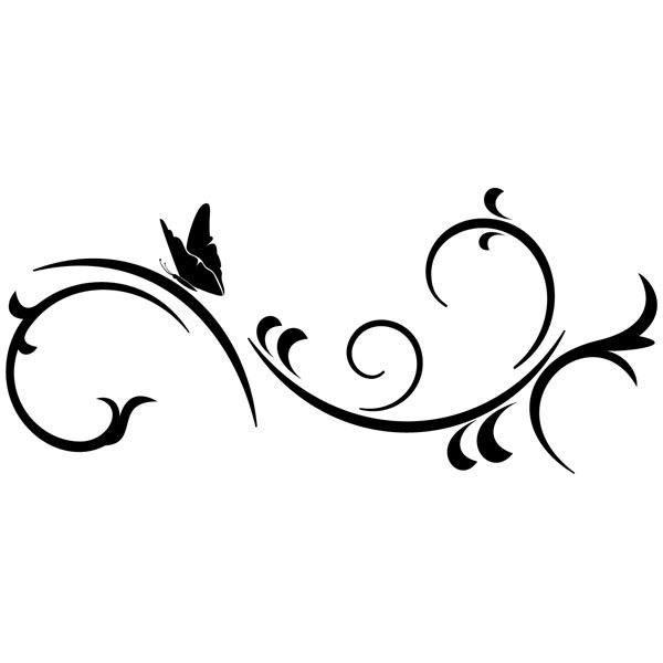 Wandtattoos: Schmetterling und Wind