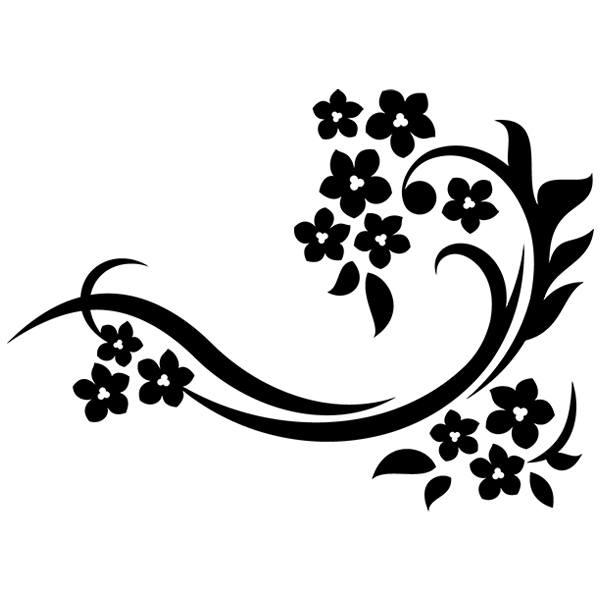 Wandtattoos: Floral 154
