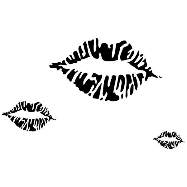 Wandtattoos: Lips