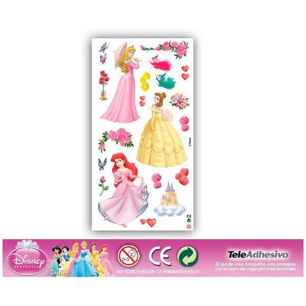 Kinderzimmer Wandtattoo: Prinzessinnen 2 22x48 cm