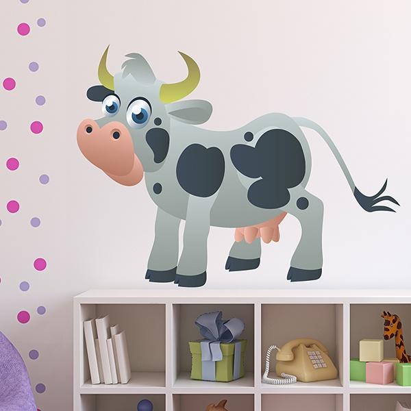 Kinderzimmer Wandtattoo: Cow