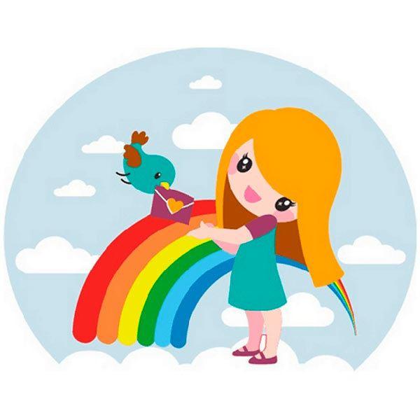 Kinderzimmer Wandtattoo: Girl
