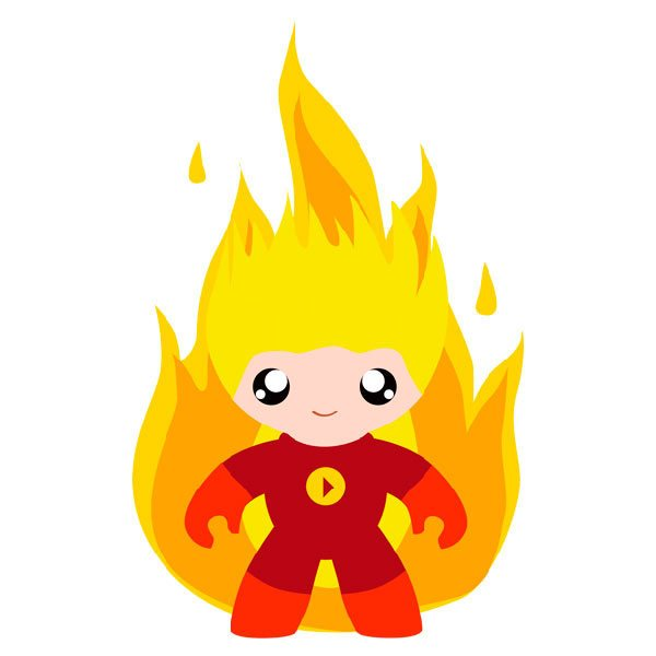 Kinderzimmer Wandtattoo: Fire Man