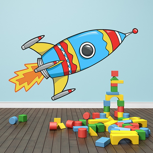Kinderzimmer Wandtattoo: Rocket 2 1