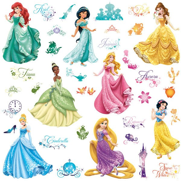 Kinderzimmer Wandtattoo: Wandtattoo Disney Princess Royal Debut