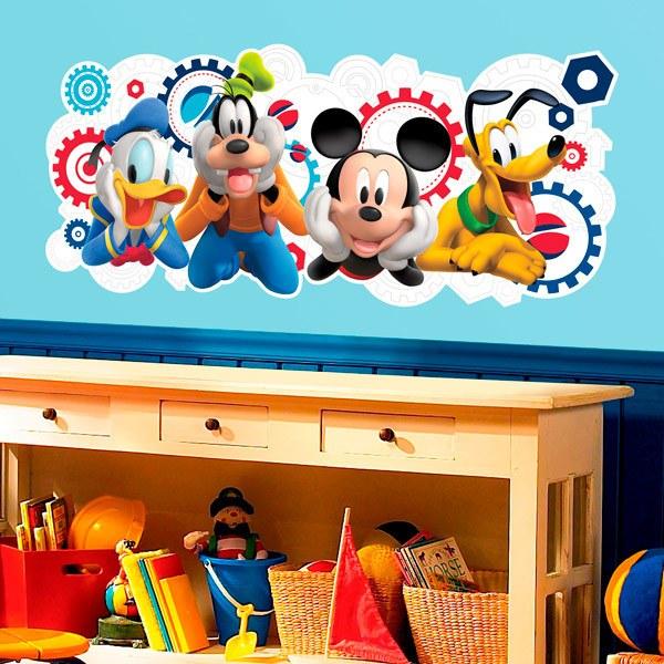 Kinderzimmer Wandtattoo: Micky und Freunde - Micky Maus Wunderhaus