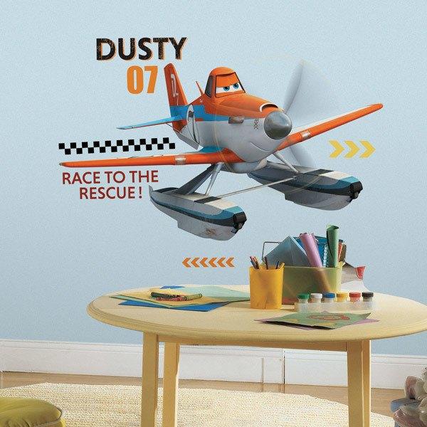 Kinderzimmer Wandtattoo: Géant Dusty Wandtattoo Planes 2 Immer im Einsatz