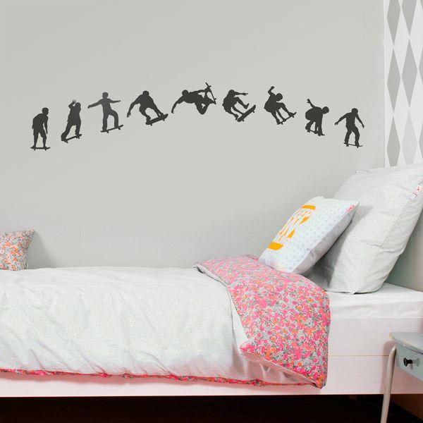 Wandtattoos: Sequence Skate Silhouetten
