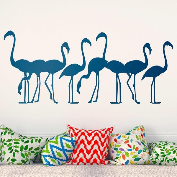 Wandtattoos:  8 Flamingos