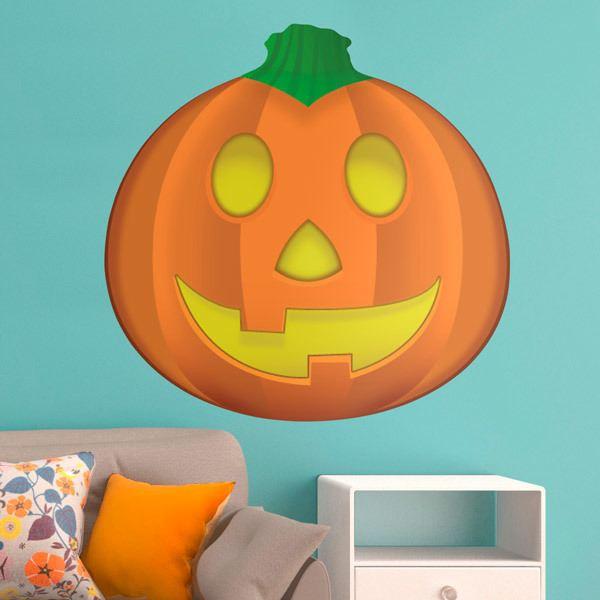 Wandtattoos: Halloween-Kürbis