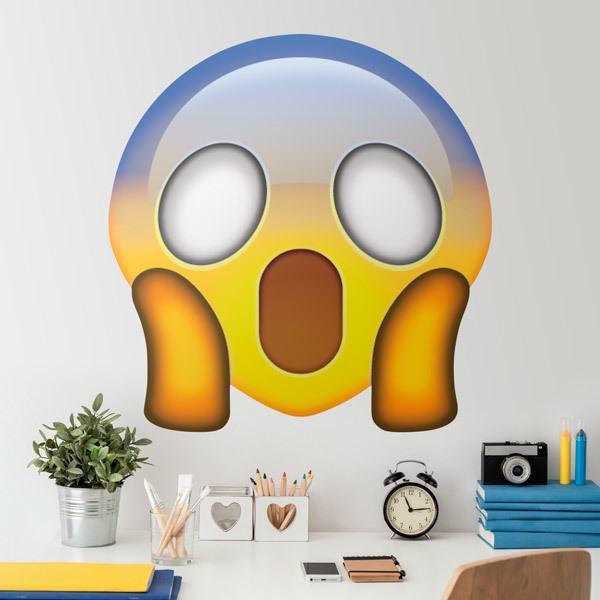Wandtattoos: Entsetztes Gesicht