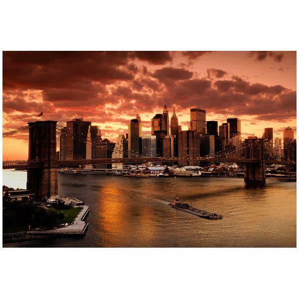 Fototapeten: Sonnenuntergang in New York