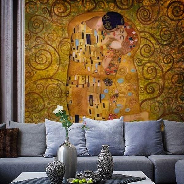 Fototapeten: Klimt kiss 0