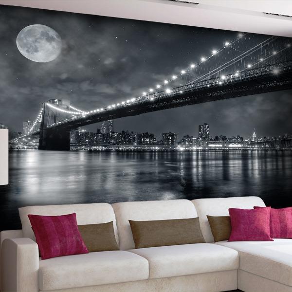 Fototapeten: Big Bridge Nacht 0