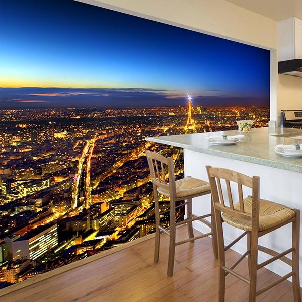 Fototapeten: Paris leuchtet die Nacht 0