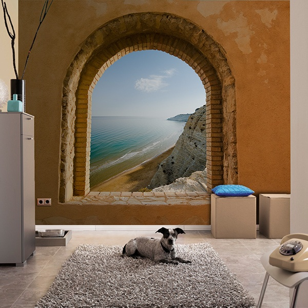 Fototapeten: Fenster zu Meer 0