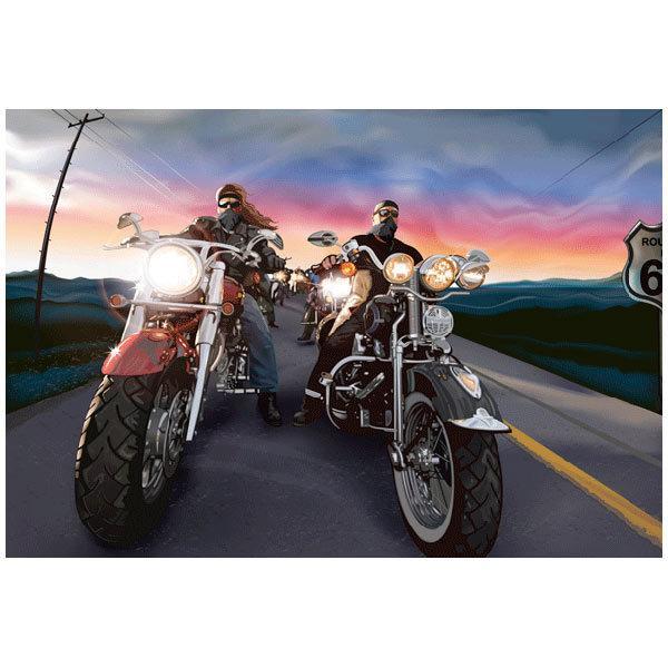 Fototapeten: Comic bikers