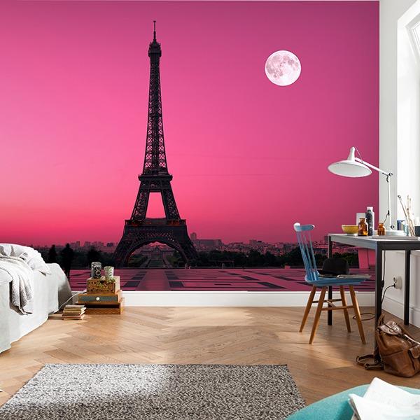 Fototapeten: Eiffel tower from Trocadero 0