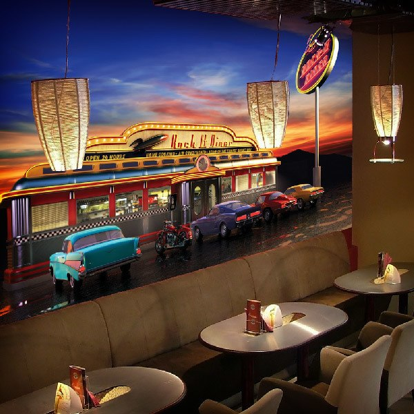 Fototapeten: Retro American Diner 0