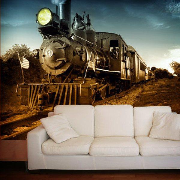Fototapeten: Vintage Locomotive 0