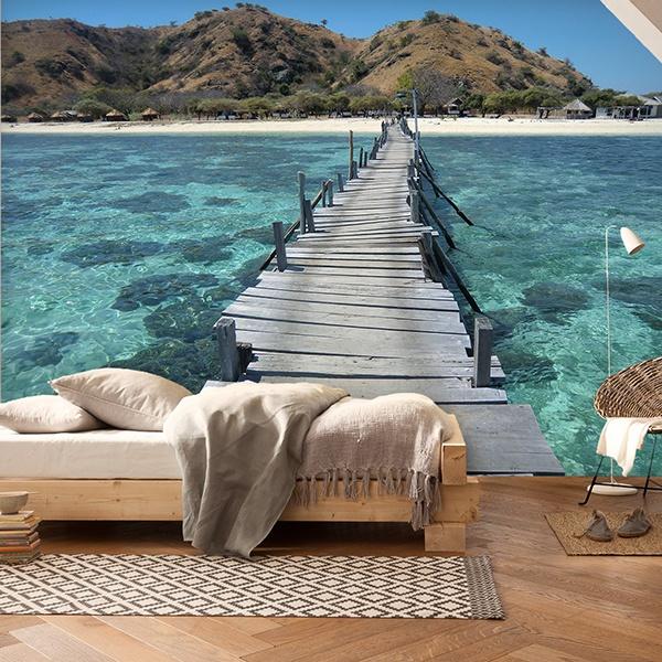 Fototapeten: Puente en el mar 0