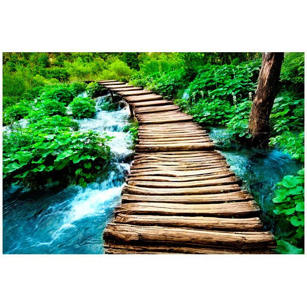 Fototapeten: Puente de madera