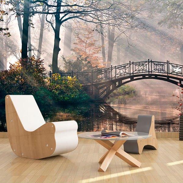 Fototapeten: Puente en el bosque