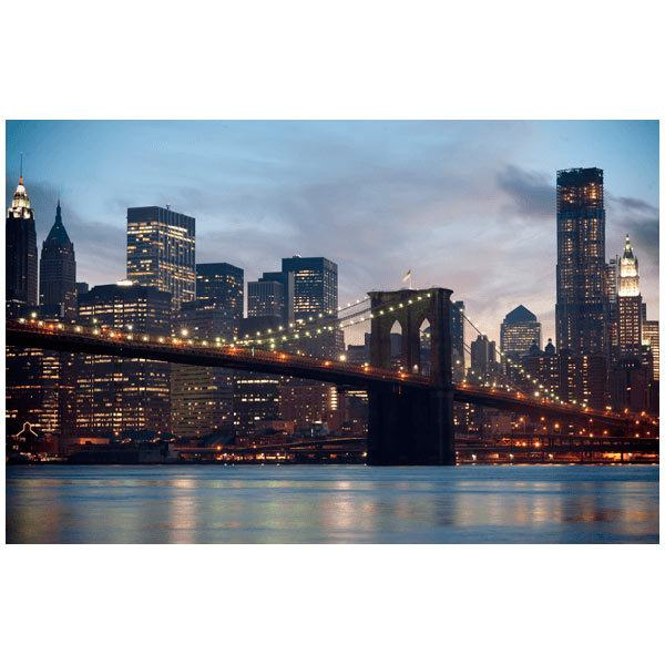 Fototapeten: Brooklyn Bridge im Nebel