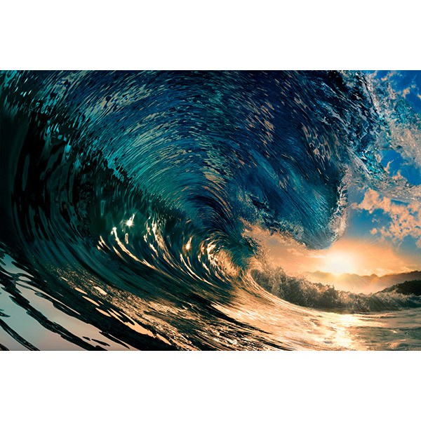 Fototapeten: Unter der Welle