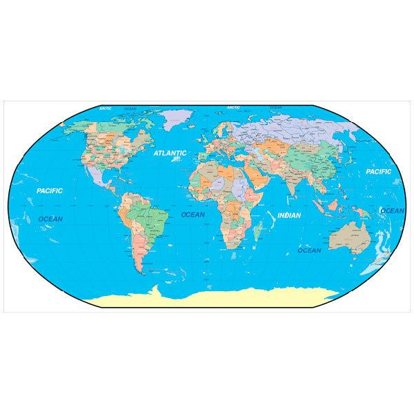 Fototapeten: Weltkarte