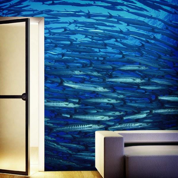 Fototapeten: Schule der Fische 0