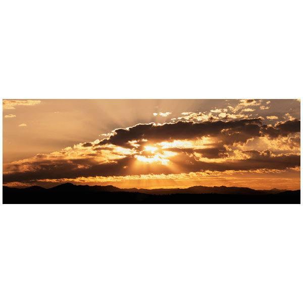Fototapeten: Sonnenuntergang hinter den Wolken