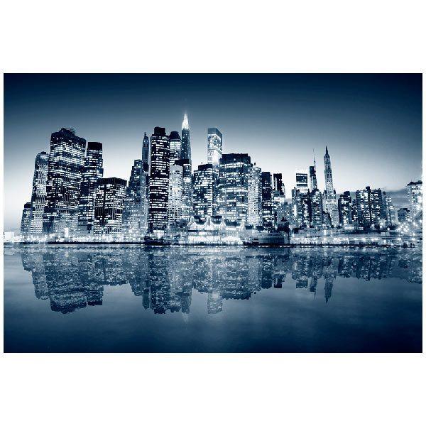 Fototapeten: Blue Night Manhattan