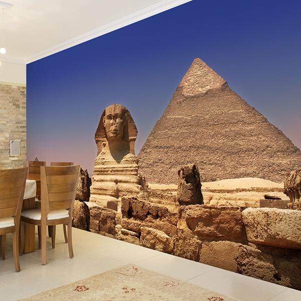 Fototapeten: Sphinx und Pyramiden 0