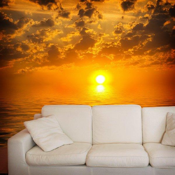 Fototapeten: Sonnenuntergang über dem Meer 0