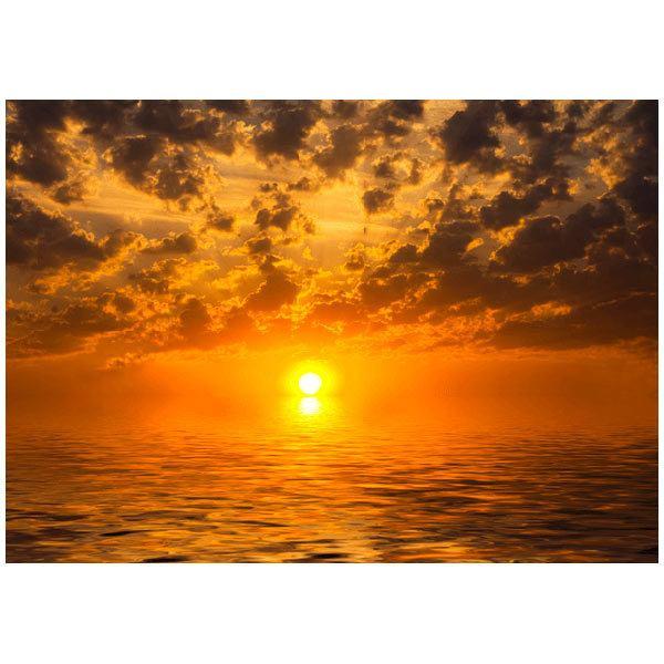Fototapeten: Sonnenuntergang über dem Meer