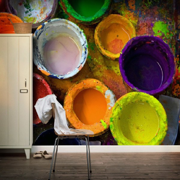 Fototapeten: Farbdosen 0