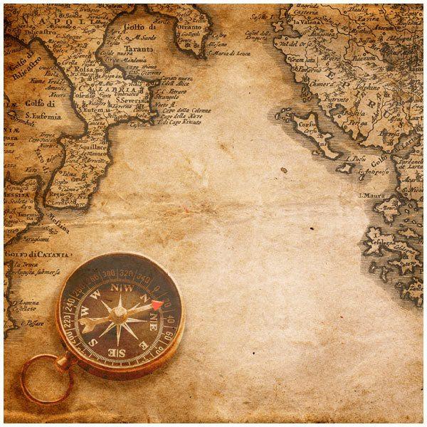 Fototapeten: Kompass