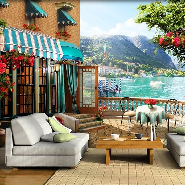 Fototapeten: Terrasse zum See 2