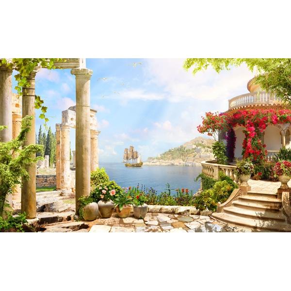 Fototapeten Griechenland : Fototapeten: Aussichtspunkt in Griechenland