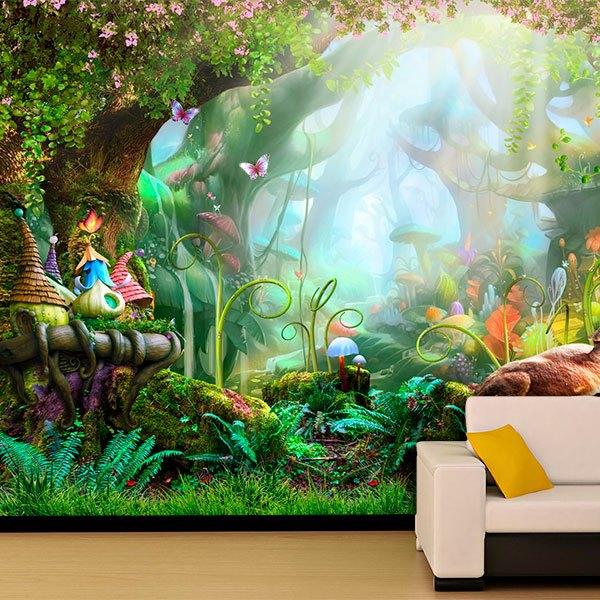 fototapete fantasy wald. Black Bedroom Furniture Sets. Home Design Ideas