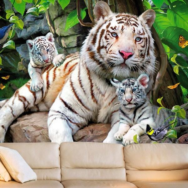 Fototapeten: Albino Tiger 0