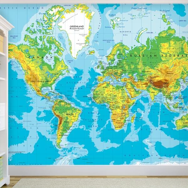 Fototapeten: Weltkarte 2 0