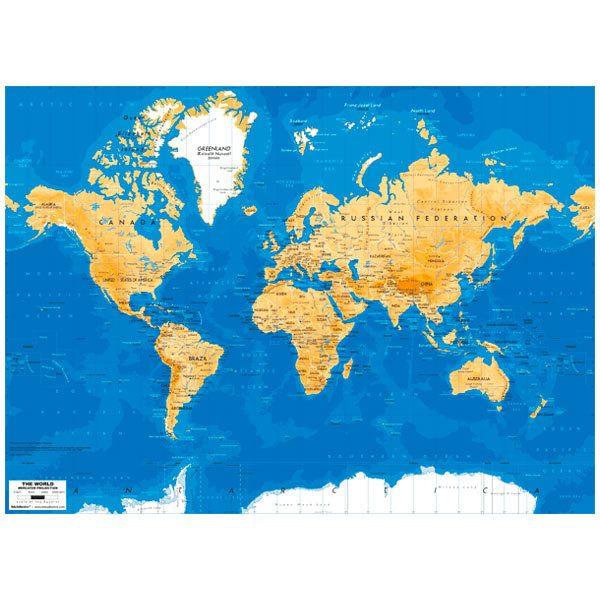 Fototapeten: World Map 4