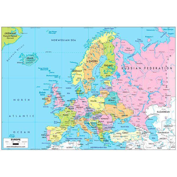 Fototapeten: Europe Political 1