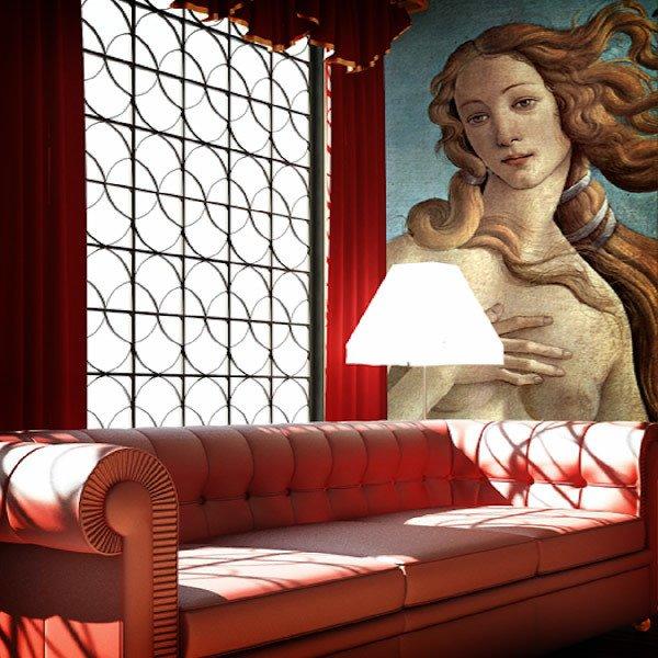 Fototapeten: Die Geburt der Venus (detail)_Botticelli 0