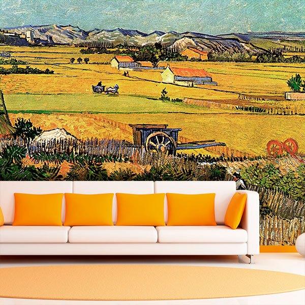 Fototapeten: Ernte in La Crau_Van Gogh 0