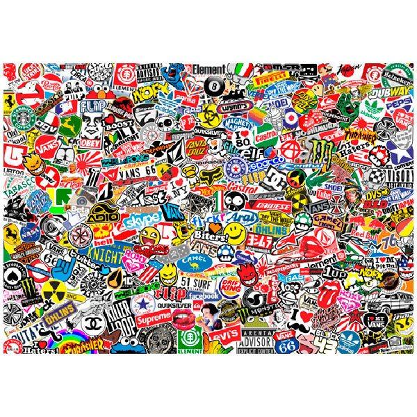 Fototapeten: StickerBomb Wandbild