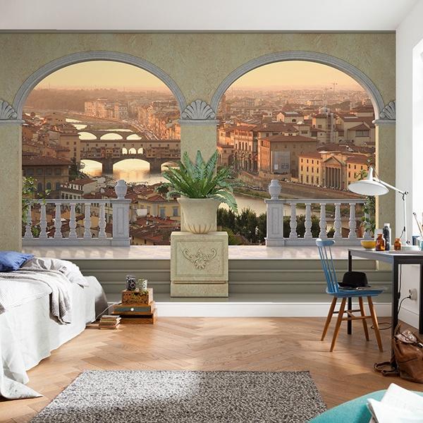 Fototapeten: Ansicht von Florenz 0
